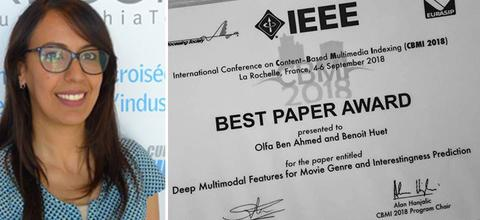 فرنسا: التونسية ألفة بن أحمد تحرز على جائزة أفضل مقال بحث علمي حول التقنيات الحديثة و الذكاء الاصطناعي