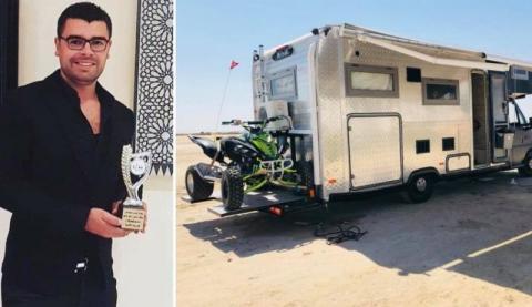 شاب تونسي ينجح في إعادة تصنيع وتأهيل أول سيارة تخييم في تونس