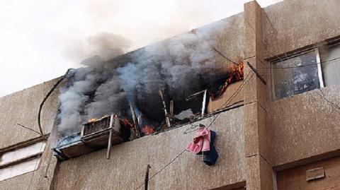 طفل الـ7 سنوات يضرم النار داخل شقّة في المنيهلة