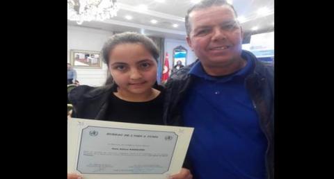 تلميذة تونسية تتوّج  بجائزة منظّمة الصّحة العالميّة في مسابقة الرّسم (مدارس)
