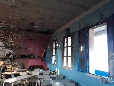 """سوسة: حريق بإحدى قاعات """"مدرسة الحبيب"""" بالقلعة الصغرى"""