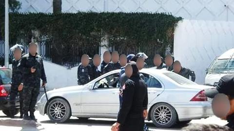 مواجهات بين الأمن و مجموعة من الطلبة أمام وزارة التعليم العالي
