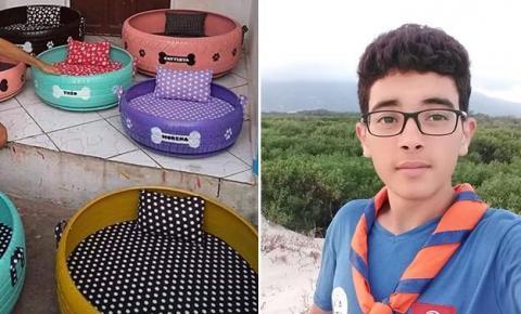 المنستير: علاء بن زينب تلميذ يحوّل الإطارات إلى سلات للكلاب والقطط