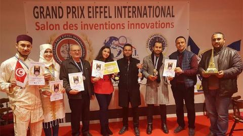 """بـ 9 مخترعين شبّان.. تونس تفوز بالمركز الثاني في مسابقة """"إيفل"""" الدولية الكبرى للاختراع والتجديد بباريس"""