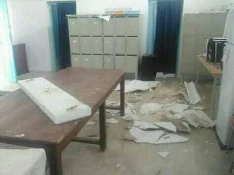 """تالة: انهيار سقف قاعة الاساتذة بـ""""معهد ابن شرف"""""""