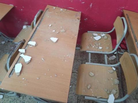 قليبية: سقوط جزء من سقف قاعة بمدرسة ابتدائية